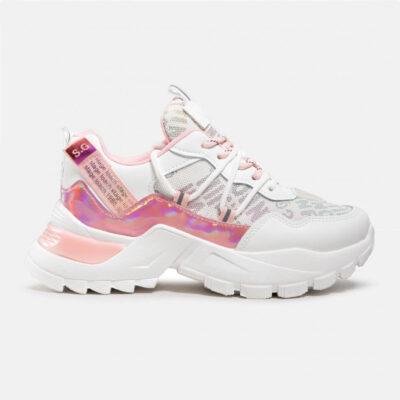 Chunky Sneaker Keddo 81796105-01E Άσπρο-Ροζ