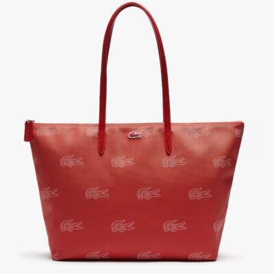 Τσάντα Ώμου L.12.12 Crocodile Pattern NF3517CX-G65 Κόκκινο