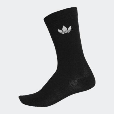 Κάλτσες Adidas Thin Tref Crew 2 ζεύγη DV1729 Μαύρο