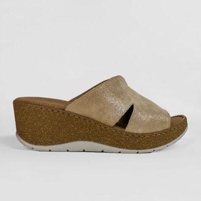 Παντόφλα Adam's Shoes Flex 591-21004 Μπεζ