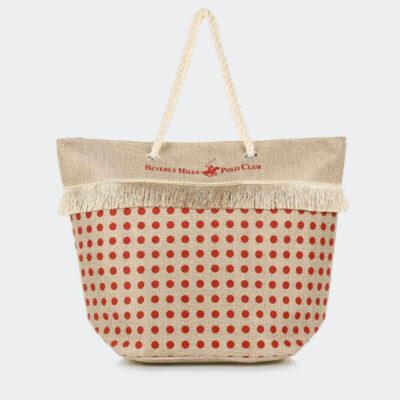 Τσάντα Θαλάσσης Beverly Hills Polo Club BH-2511 Κόκκινο