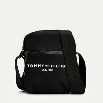 Τσαντάκι Χιαστί Tommy Hilfiger AM0AM07229-BDS Μαύρο