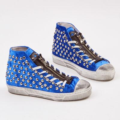 Sneaker Μποτάκι Με Τρούκς Gwyneth Μπλε Ηλεκτρίκ
