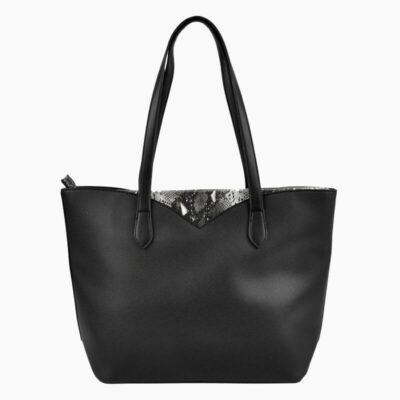 Τσάντα Ώμου Με Στάμπα Φιδιού Pierre Cardin 9331 Μαύρο