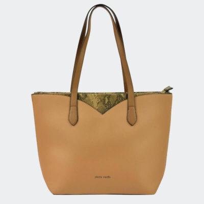 Τσάντα Ώμου Με Στάμπα Φιδιού Pierre Cardin 9331 Ταμπά