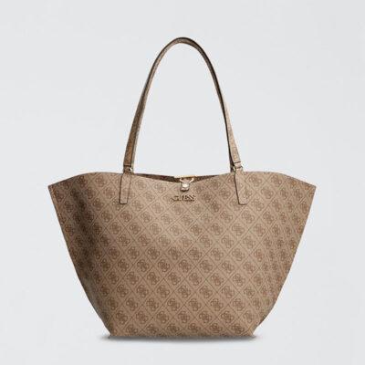 Τσάντα Ώμου Guess Alby HWSS7455230 Μπεζ