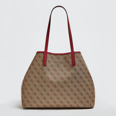 Τσάντα Ώμου Guess Vikky HWSG6995240 Καφέ