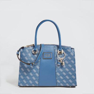 Τσάντα Χειρός Guess Tyren HWSG7966070 Μπλε1