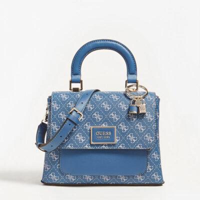 Τσάντα Χειρός Guess Tyren HWSG7966180 Μπλε