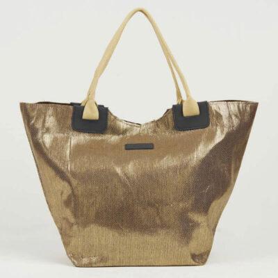 Ψάθινη Τσάντα Θαλάσσης Pierre Cardin Β955 Χρυσό Μαύρο