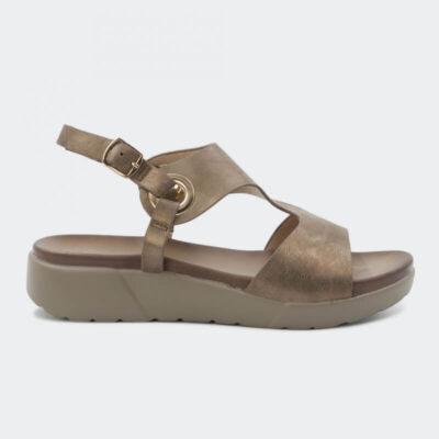 Aνατομικό Σανδάλι Adam's Shoes 1-822-21010-29 Χρυσό Ροζ