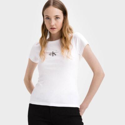 T-shirt Calvin Klein 20J216577-YAF Άσπρο