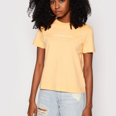T-shirt Calvin Klein J20J215322-SFX Κίτρινο