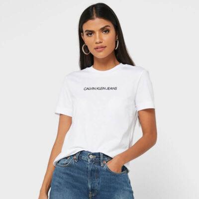 T-shirt Calvin Klein J20J216251-YAF Άσπρο