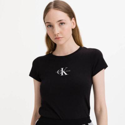 T-shirt Calvin Klein J20J216577-BEH Μαύρο
