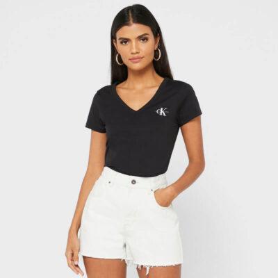 T-shirt Calvin Klein J20J217166-BEH Μαύρο
