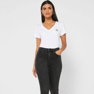 T-shirt Calvin Klein J20J217166-YAF Άσπρο