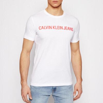 T-shirt Calvin Klein J30J307856-YAF Άσπρο