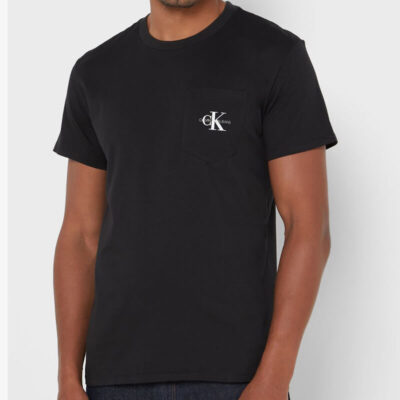 T-shirt Calvin Klein J30J317294-BEH Μαύρο