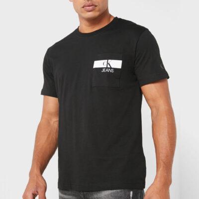 T-shirt Calvin Klein J30J317671-BEH Μαύρο