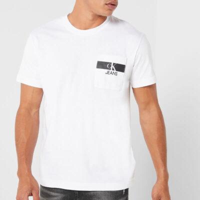 T-shirt Calvin Klein J30J317671-YAF Άσπρο