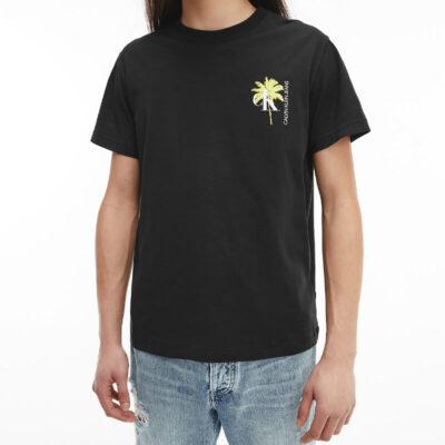T-shirt Calvin Klein J30J318198-BEH Μαύρο