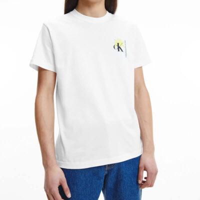 T-shirt Calvin Klein J30J318198-YAF Άσπρο