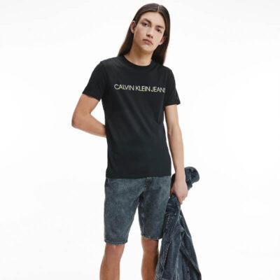 T-shirt Calvin Klein J30J318203-BEH Μαύρο