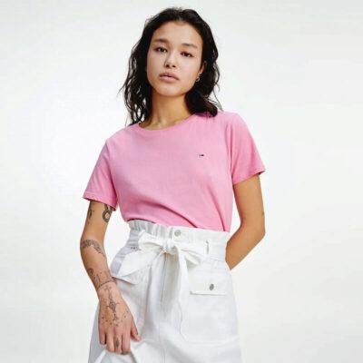 T-shirt Tommy Hilfiger DW0DW06901-TOU Ροζ