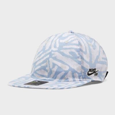 Καπέλο Nike H86 Flatbill AOP CQ9274-100 Άσπρο Μπλε
