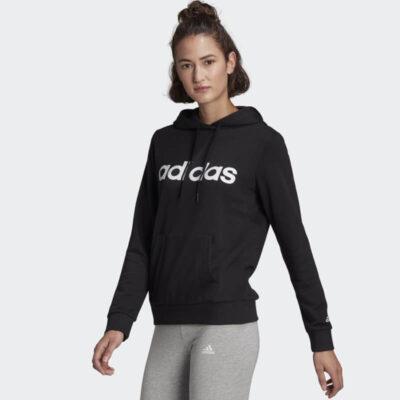 Φούτερ Με Κουκούλα Adidas Essentials GL0635 Μαύρο