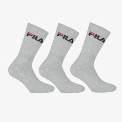 Αθλητικές Κάλτσες Fila 3 ζεύγη F9505-400 Γκρι