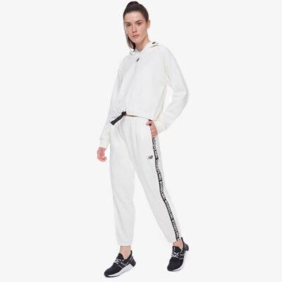 Παντελόνι Φόρμας New Balance WP13176SST Άσπρο
