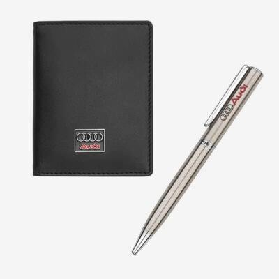 Σετ Δώρου Καρτοθήκη- Στυλό Auto Set AS030 Μαύρο