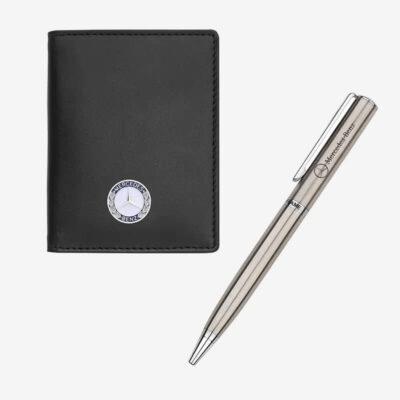 Σετ Δώρου Καρτοθήκη- Στυλό Auto Set AS038 Μαύρο