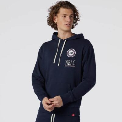 Φούτερ New Balance Essentials Athletic Club MT13519ECL Μπλε