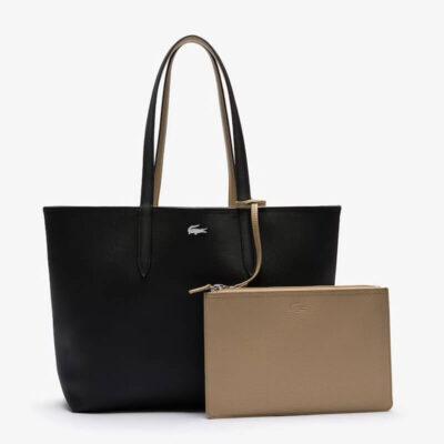 Τσάντα Ώμου Lacoste Διπλής Όψεως NF2142AA-A91 Μαύρο Μπεζ