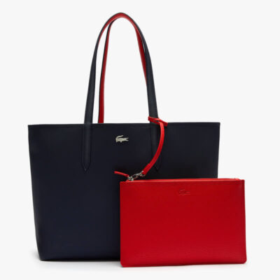 Τσάντα Ώμου Lacoste Διπλής Όψεως NF2142AA-B50 Μπλε Κόκκινο