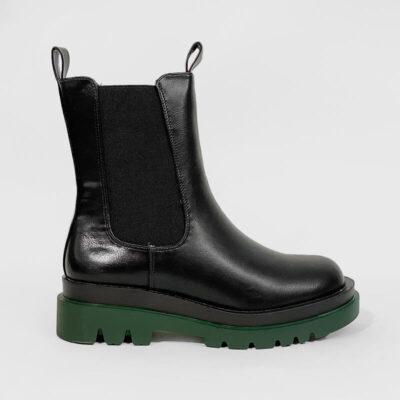 Chelsea Μποτάκι Adam's 812-21502-29 Μαύρο Πράσινο