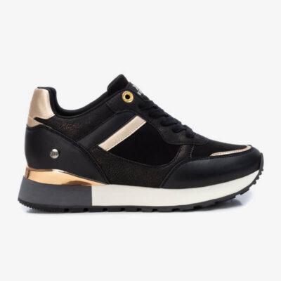 Runner Sneaker XTI 43314 Μαύρο Μπρονζέ